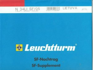 Lighthouse Leuchtturm Supplement N34 LI SF 05 Lithuania