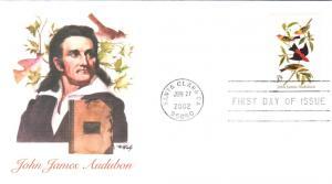 #3650 John James Audubon Fleetwood FDC