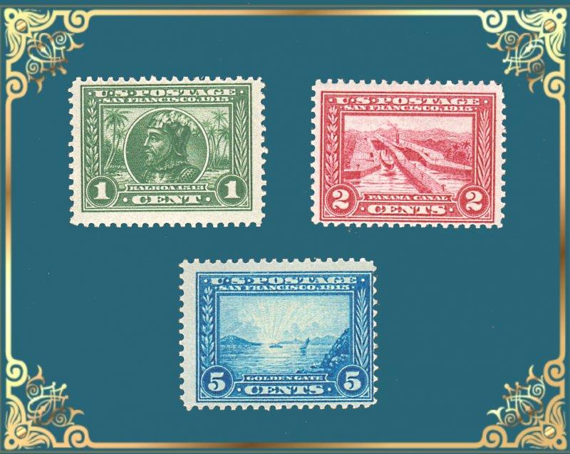 US STAMPS #397- 399 PANAMA-EXPOSITION SET M/OG CV $127 #856