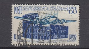 J29690, 1952 italy used #611 airoplane