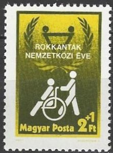 Hungary  B322  MNH  Year of Disabled Person