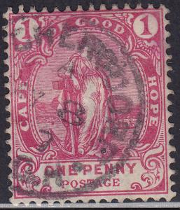 Cape of Good Hope 60 USED 1893 Hope Standing CDS