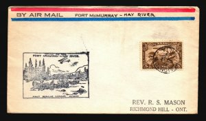 Canada 1929 FFC - Ft McMurray to Hay River - Z16677