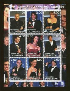 Tajikistan Commemorative Souvenir Stamp Sheet - 73rd Annual Academy Awards