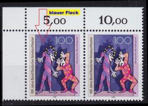 GERMANY BUND [1992] MiNr 1626 F1,I,2er ( **/mnh ) [01] Plattenfehler