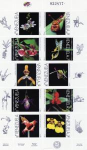 Venezuela 1996 Orchids Shlt (10) MNH VF Sc#1534