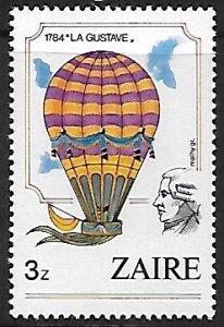 Zaire # 1162 - Hot Air Balloon - MNH