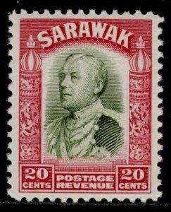 SARAWAK GV SG116, 20c olive-green & carmine, M MINT.