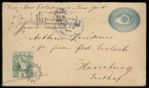 Guatemala 1900 Livingston New Orleans Hamburg Germany Cover 92792
