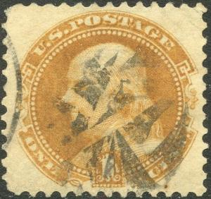 #112 VF USED WITH FANCY CANCEL CV $150.00 BP3047