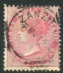 Zanzibar SGZ42 8a Rose Z4 Squared Circle dated 15th Feb