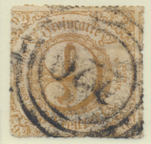 Thurn and Taxis Stamp Scott #59, Used - Free U.S. Shipping, Free Worldwide Sh...