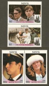 Nevis #498-9 NH Andrew & Sarah Wedding (2 Pairs)