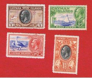 Cayman Islands #85-88  MVFLH OG Various Scenes  Free S/H