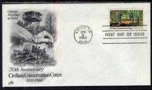 US 2037 Conservation Corps Artcraft U/A FDC