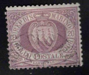 San Marino Scott 12 Used 1895 stamp