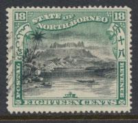 North Borneo SG 108 Used perf 16 see details error inscription see scans