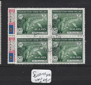 MALAYA FEDERATION  (PP1308B)  SG  10-1      BL OF 4   VFU