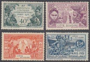 Ivory Coast 92-95 MLH CV $22.50