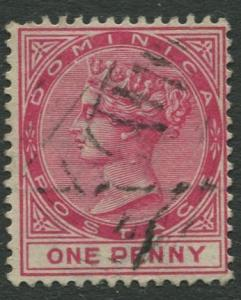 DOMINICA -Scott 19 - QV - Definitive -1863 - VFU - Wmk 2- Single 1p Stamp