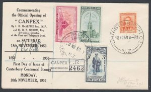 NEW ZEALAND 1950 Canpex Philatelic Exhibition cover and cancel..............L297