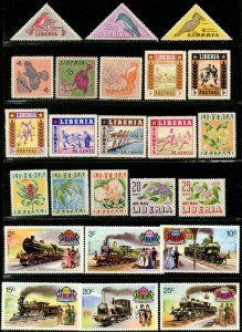 LIBERIA 1953-1974 Collection of Fourteen Mint Complete Topical Sets NH