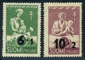 Finland B80-B81,MNH.Michel 336-337. Red Cross-1947,tuberculosis fight.
