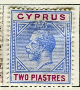 CYPRUS; 1912 early GV issue Mint hinged 2Pi. value