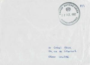 France Military Free Mail 1992 United Nations-Unies, UNTAC/APRONUC illustrate...