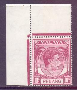 Malaya Penang Scott 11 - SG11, 1949 George VI 10c MH*