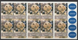 AUSTRALIA SGSB292(3009a) 2008 WORKING DOGS $5 BOOKLET MNH