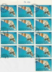 Rep. De Djibouti Man flying in Kite Stamps Decoupage Crafts or Collect Ref 28346