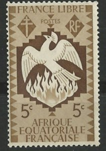 French Equatorial Africa # 142  Free French Phoenix  (1) Unused