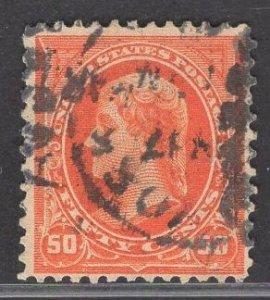 US Stamp #275 50c Orange Jefferson USED SCV $40.00