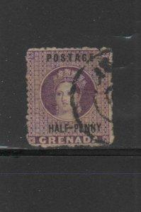 GRENADA #8  1881  1/2p  QUEEN VICTORIA     F-VF  USED
