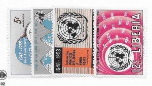 Liberia #379-382 MH - CAT VALUE $2.05