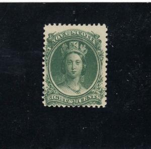 NOVA SCOTIA (LOT KSG221144) # 11 VF-MNH 81/2cts  QUEEN VICTORIA CAT VALUE $40