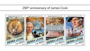 Sierra Leone James Cook Stamps 2018 MNH Exploration Ships Famous People 4v M/S