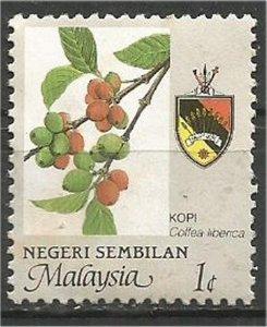 NEGRI SEMBILAN, 1986, mint 1c, Agriculture. Scott 99