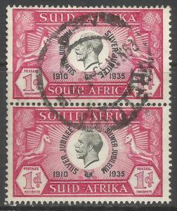 SOUTH AFRICA 69 VFU PAIR Z7474-6