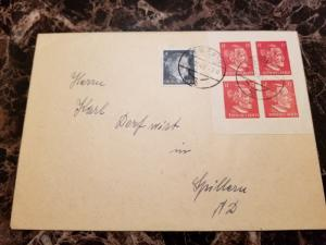 1943 Vienna Germany OSS Forgery Stamps Cover Block 4 Imperf