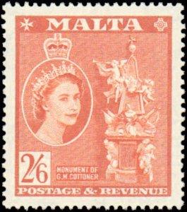 Malta #259, Incomplete Set, 1956-1957, Hinged