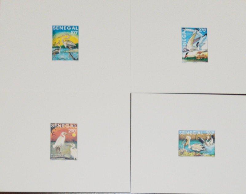 O) 1995 SENEGAL, DIE PROOF, WATER BIRDS, ARDEA, STERNA, EGRETTA, PELECANUS, KALL