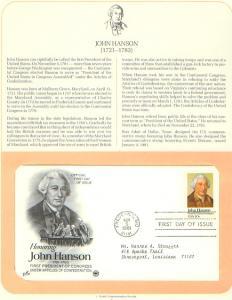 John Hanson, FDC's (USHFDC1941)
