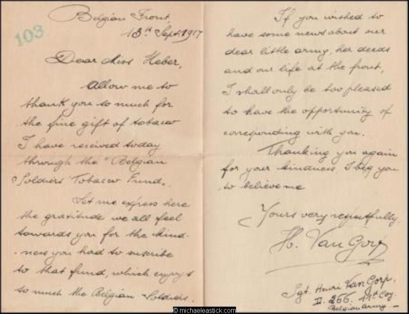 Belgium 1917 Sep Censored Military Cover Letter Redirected