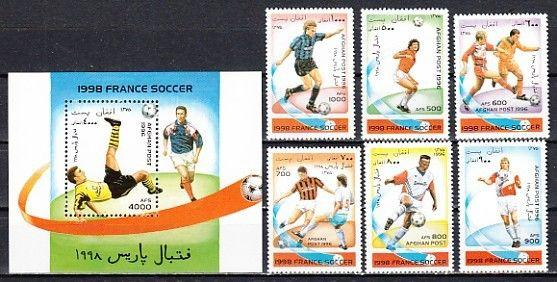 Afghanistan, 1996 Cinderella issue. World Cup Soccer set & s/sheet.