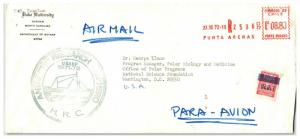 Chile 1972 Antarctica Ship HERO Cover Metered / Uprated - Z13812