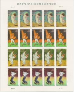 US 4698-4701 4701a Innovative Choreographers forever sheet MNH 2012