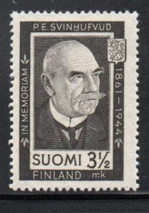 Finland Sc 245 1944 Svinhufvud Memorial stamp mint NH