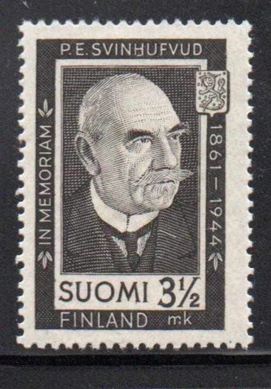 Finland Sc 245 1944 Svinhufvud Memorial stamp mint NH